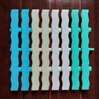 ABS游泳池格栅盖板,游泳池排水塑料篦子,泳池溢水槽盖板