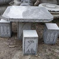 济南向阳石雕厂家直销花岗岩石桌凳石材桌椅价格