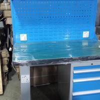 批发复合工作台_1.5米长检测工作台_车间检验台带灯_重型钳台钳桌