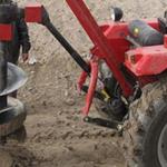 旋转拖拉机带挖坑机园林种植汽油挖坑机价格y8