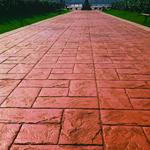 泰安彩色混凝土表面压模压花地坪