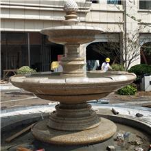 廠家直銷重慶石雕噴泉水缽批發價格黃銹石黃金麻五蓮紅