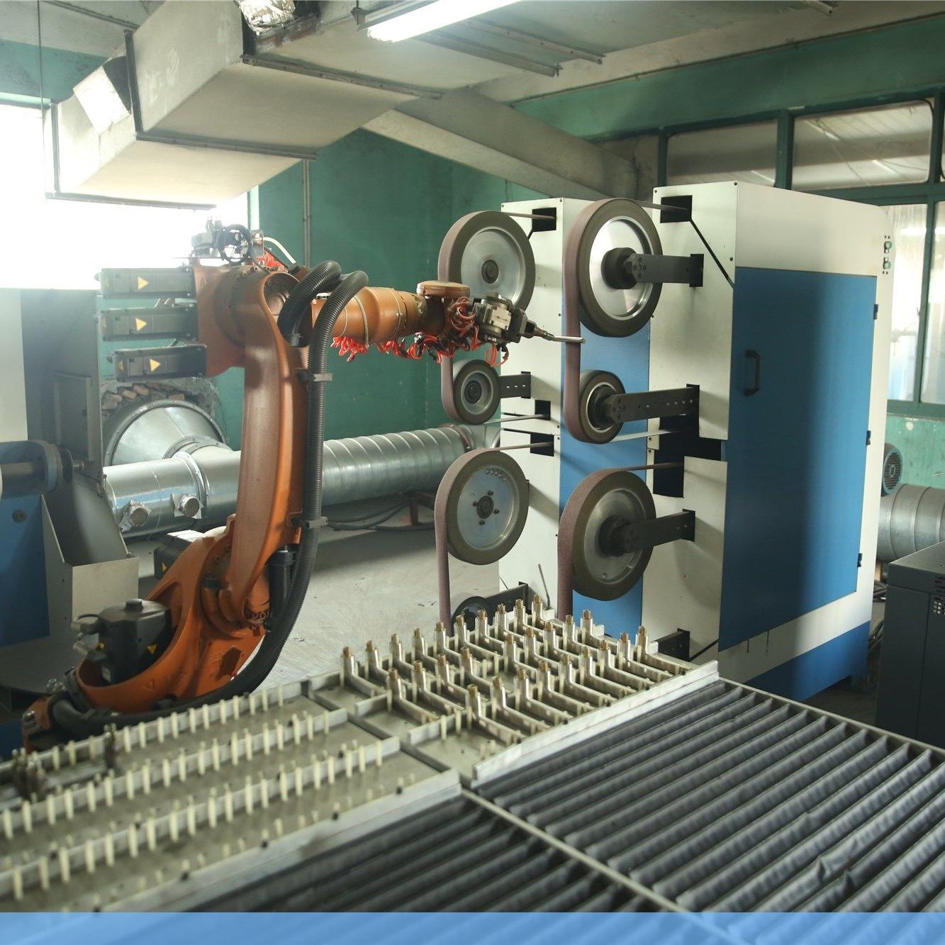 中山锁具打磨机器人,佛山不锈钢厨具抛光生产线