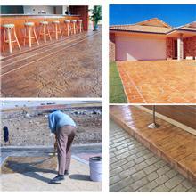混凝土彩色压花地坪 义乌周边地区材料配送 技术指导 工程施工