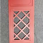 仿古校区木纹铝窗花生产