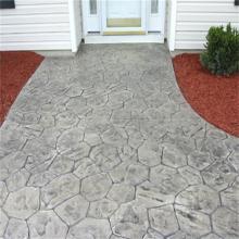 長沙壓模地坪脫膜粉多少斤長沙藝術壓模模具色彩繽紛