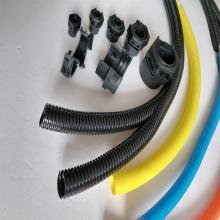 机器人线路保护用双拼波纹管 阻燃防磨损双壁开口塑料软管