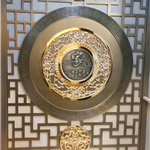 廠家供應藝術鏤空雕花鋁屏風-中式風格鋁浮雕屏風