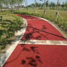 昆明生态绿道 荧光石路面美如画-----真石丽彩色地坪