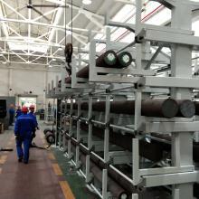 棒料货架 圆钢存放架 伸缩式棒材堆放架