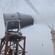 KCS400-60中远射程除尘雾炮机 煤棚降尘防爆雾炮机