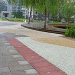 山西彩色艺术压模地坪风格 独特压模着色   地坪材料厂家直供
