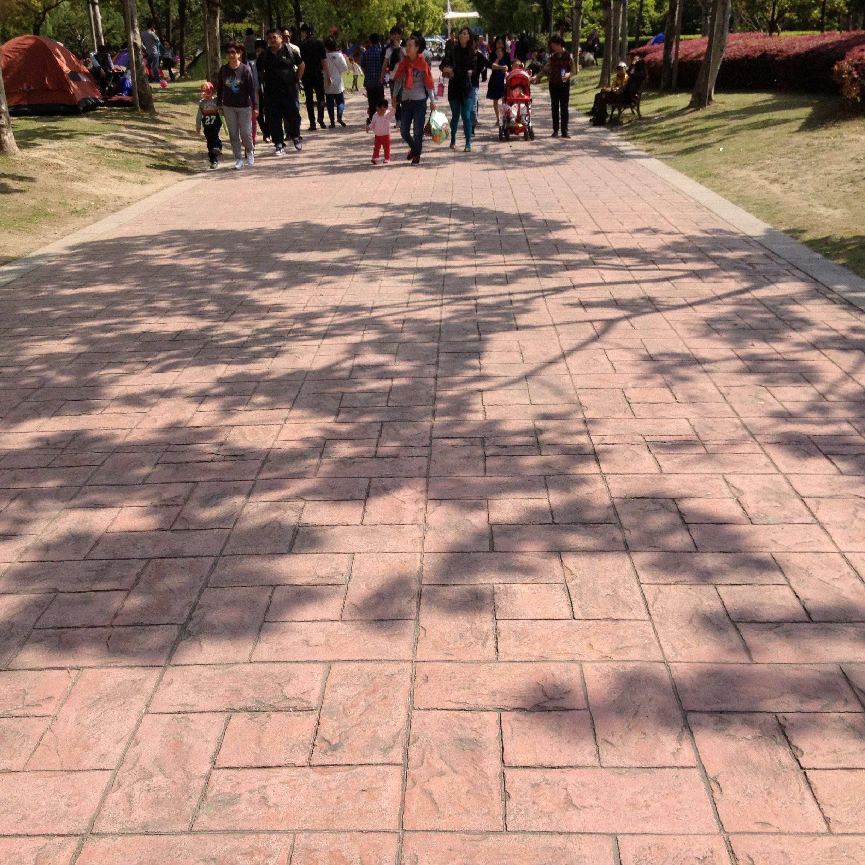 公园彩色仿文化石地坪   压印地坪材料销售批发  认准真石丽