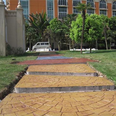 伊春可仿砖?仿木纹地坪---彩色混凝土压印地坪  质量无忧
