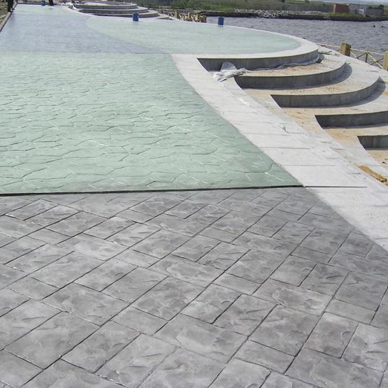 真石丽彩色混凝土路面彩色面层厚度的计算方法