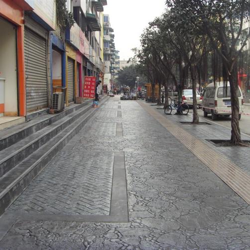 昆山旅游景区采用可仿木纹  仿砖材---混泥土压印艺术地坪