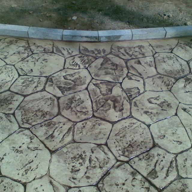 浙江湿地公园彩色混凝土地面案例  海绵城市景观地坪工程承包