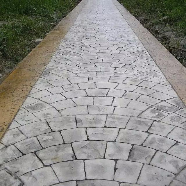 北京园林景观路面,仿鹅卵石艺术地坪 仿木纹路面铺装材料供应