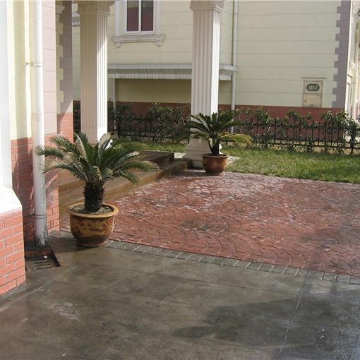 天津酸着色复古地坪,仿鹅卵石路面的应用场所及施工要求