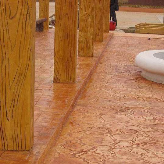 甘肃定西水泥压花地坪、压模地坪专业施工造价低