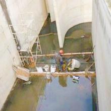 污水处理厂AAO池伸缩缝漏水补漏处理