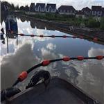 聚乙烯水上拦载警示浮体 组合式水面抱管子漂浮桶