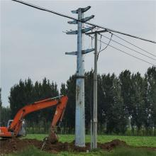 220KV耐张钢管杆定制 高压架线电力钢杆益明定制