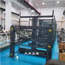 伸缩式悬臂货架供应商 管材上架存放案例 棒料车间立体存放架