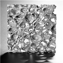 进口泡沫铝板装饰材料透光效果展示