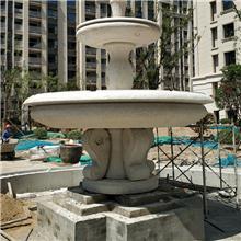 黄锈石喷泉水钵,黄金麻喷泉,景观石材水钵