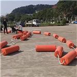 橙色水面警示标志带浮漂规格 300型浮筒施工安装