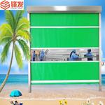 广州PVC感应快速门自动高速工业卷帘门 接线图