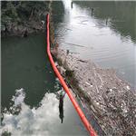 水上柔性隔污带浮漂  橙色河道拦污排浮体