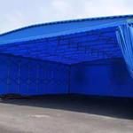 江苏 泰州市 大型伸缩仓库遮雨棚 移动推拉棚 厂家定做