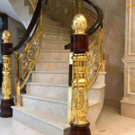 贵港铜楼梯栏杆的起源和线条的优势