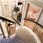 敦煌铜镀金楼梯护栏整体效果图片