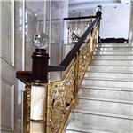 广州 K金铜艺楼梯栏杆 依然这么的华丽