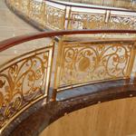 吉林铜雕刻楼梯花纹 家装铜楼梯效果图K金铜扶手