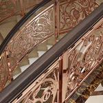 太原供应雕花铜楼梯护栏不锈钢楼梯扶手小巧灯饰点亮空间