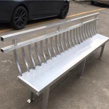 中国式园林仿古金属飞来椅-木纹铝合金美人靠厂家