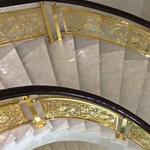 泰国铝艺护栏 弧形艺术护栏家居楼梯定制