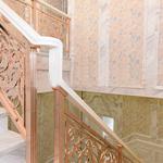 衡阳复式阳台铜围栏 别墅镀金铜楼梯简约大气