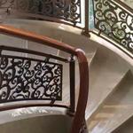 河津铜楼梯 欧式奢华纯铜楼梯护栏 手工打造铜扶手 实力厂家