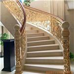 承德铜艺有钱人的楼梯扶手 简直是太漂亮了你是怎么做到的