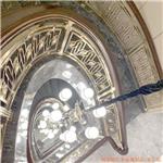 西宁铜艺楼梯围栏 酒店豪宅玫瑰金铜扶手效果图