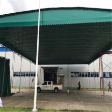 辽宁 钢结构大型仓库雨棚 大型推拉折叠雨棚 厂家生产安装