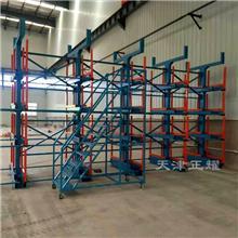 伸缩式悬臂货架满足管材钢材棒料型材在车间存储的要求