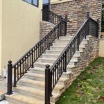 黑河铜楼梯扶手创意组合打造便捷的家居生活_
