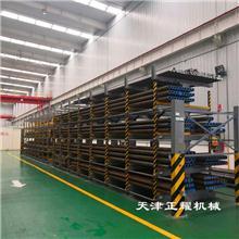 有管材存放的企业可以选择伸缩式手摇管材货架省空间设计整齐