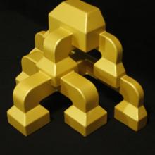 厂家定做香槟金铝合金斗拱-金属装饰铝飞檐斗拱